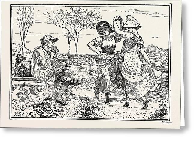 Pan Pipes Greeting Card by Crane, Walter (1845-1915), English