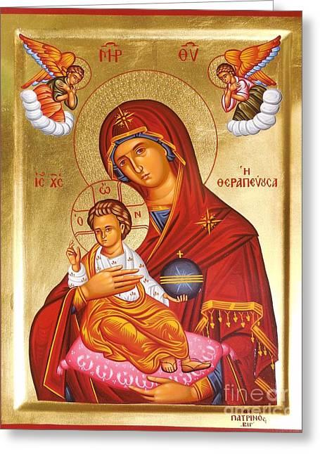 Panagia - Virgin Mary Greeting Card by Theodoros Patrinos