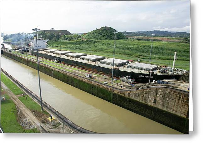 Panama Canal Greeting Card by Photostock-israel