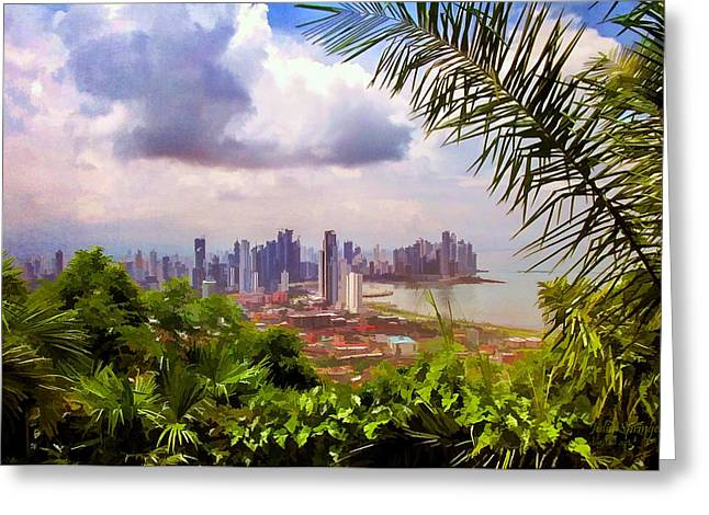 Panama City From Ancon Hill Greeting Card
