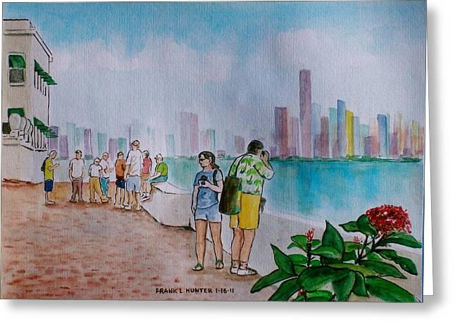 Panama City Panama Greeting Card by Frank Hunter