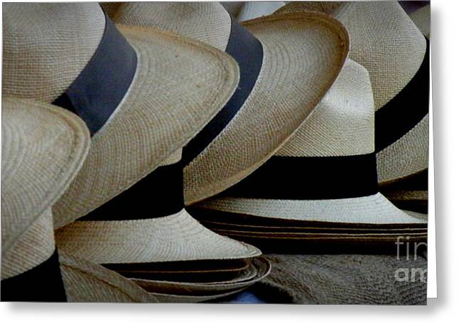 Panama Hats Greeting Card by Lainie Wrightson