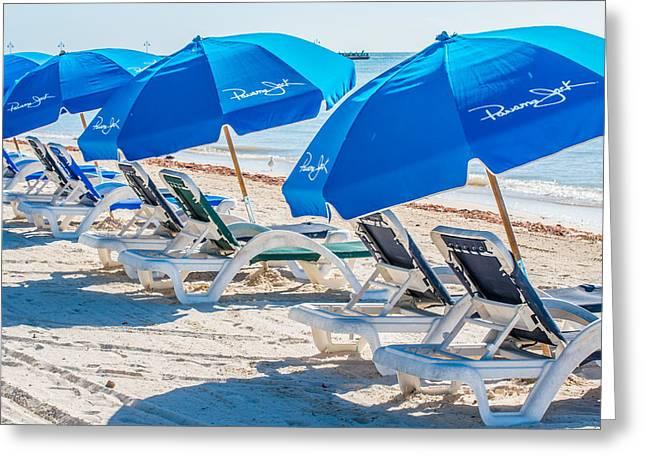 Panama Jack Blues - Higgs Beach - Key West - Square Greeting Card by Ian Monk