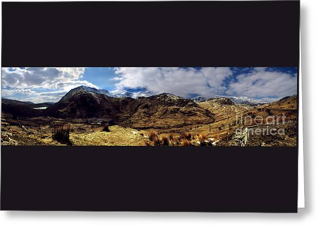Panaramic Snowdonia Mountains Greeting Card