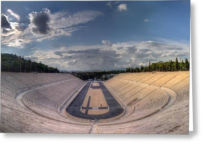 Greeting Card featuring the photograph Panathenaic Stadium by Micah Goff
