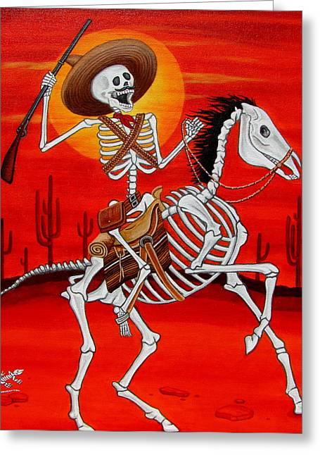 Pancho Villa Greeting Card by Evangelina Portillo
