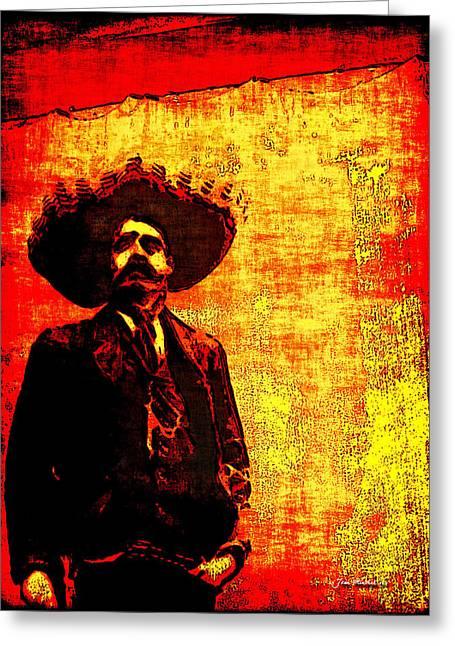 Pancho Villa Greeting Card by Joan  Minchak