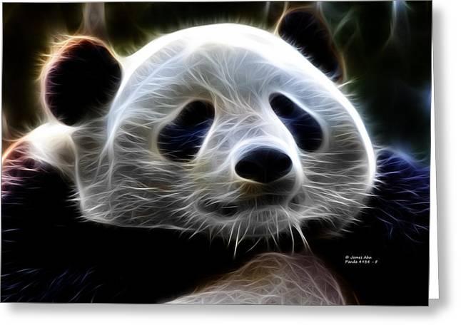 Panda - 4934 - F Greeting Card by James Ahn