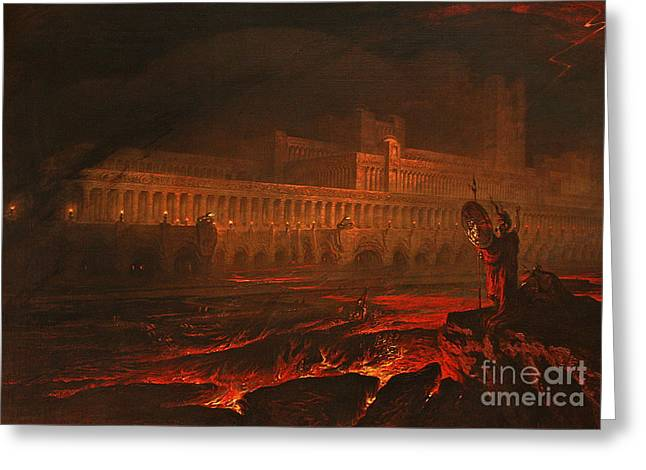 Pandemonium Greeting Card by John Martin