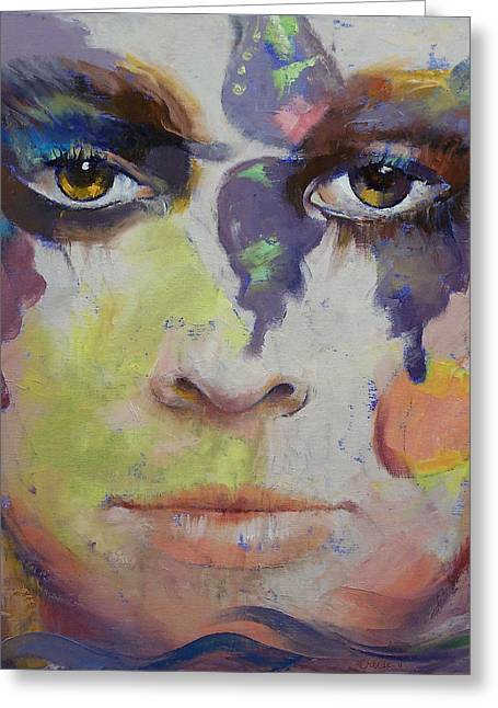 Pandora Greeting Card by Michael Creese