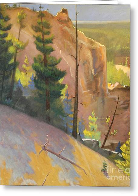 Yellowstone Canyon - Tolpo Point Mural  Panel 1 Greeting Card by Art By Tolpo Collection