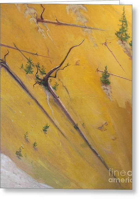 Yellowstone Canyon - Tolpo Point Mural Panel 5 Greeting Card by Art By Tolpo Collection