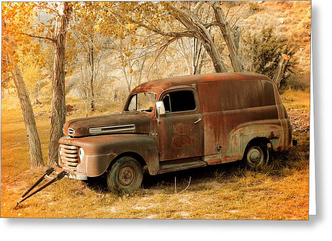 Panel Truck Greeting Card by Leland D Howard