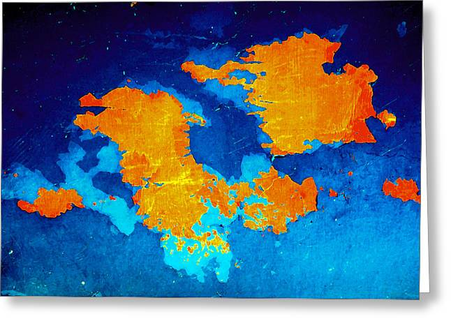 Pangea Greeting Card by Stephen Maxwell