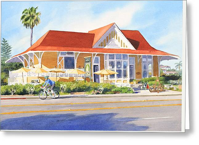 Pannikin Encinitas Greeting Card by Mary Helmreich