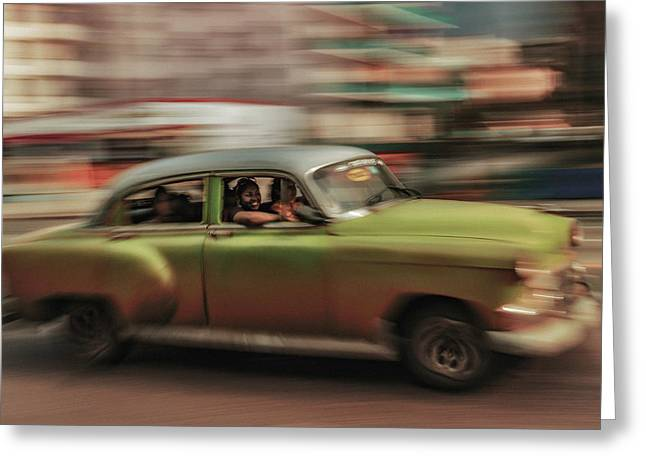 Panning Havana Greeting Card
