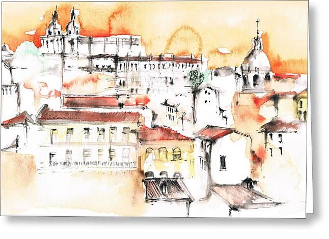 Panoram City Greeting Card by Turdean Mircea