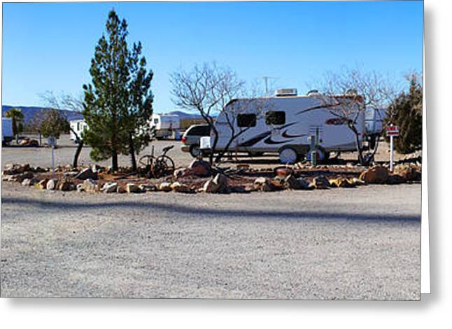 Panorama Cedar Cove Rv Park Street 2 Greeting Card by Roena King