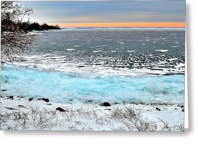 Panorama Freeze - Horsey Bay - Kingston - Canada Greeting Card