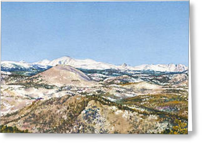 Panorama From Flagstaff Mountain Greeting Card