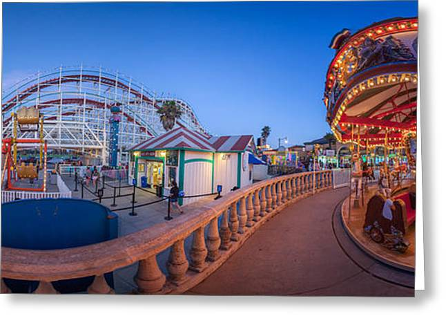 Panorama Giant Dipper Goes 360 Round And Round Greeting Card