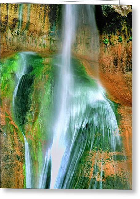 Greeting Card featuring the photograph Panorama Lower Calf Creek Falls Escalante Nm Utah by Dave Welling