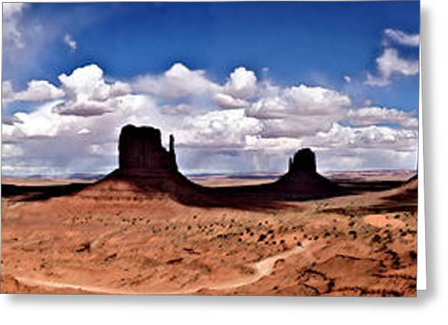 Panorama - Monument Valley Park Greeting Card by David Blank