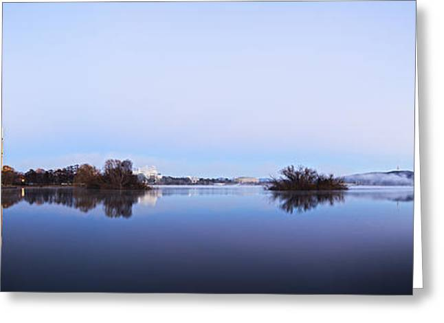 Panorama Of Canberra Australia Greeting Card by Colin and Linda McKie