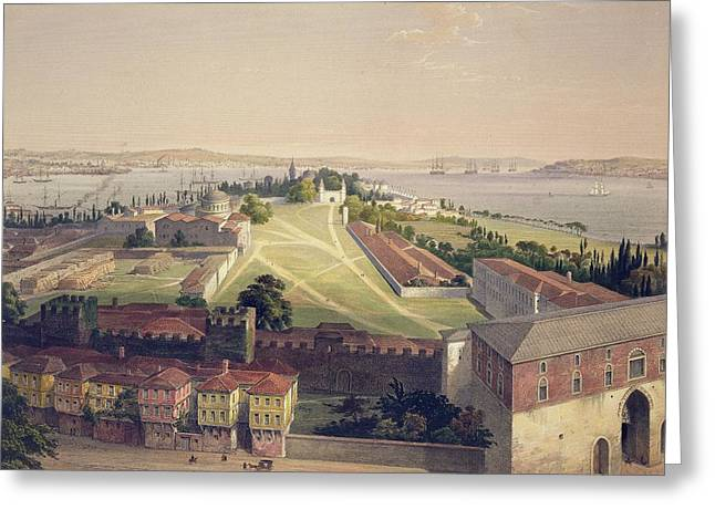 Panorama Of Constantinople, Plate 22 Greeting Card by Gaspard Fossati