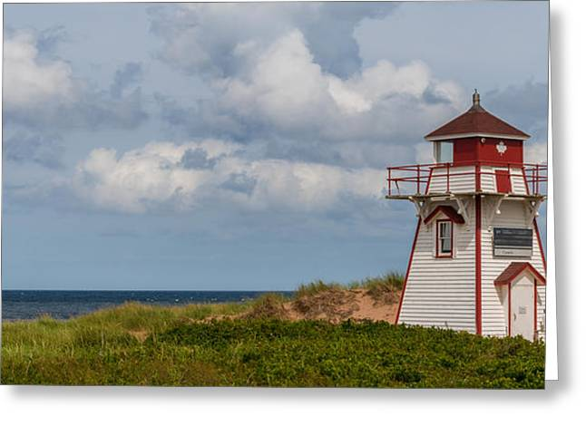 Panorama Of Covehead Lighthouse In Stanhope Greeting Card