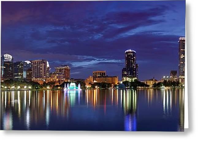 Panorama Of Downtown Orlando Greeting Card