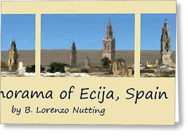 Panorama Of Ecija Spain Greeting Card