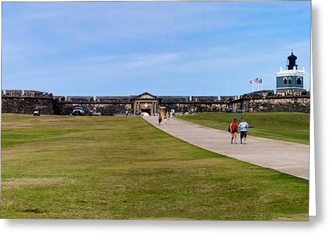 Panorama Of El  Morro Castillo Greeting Card by Thomas Marchessault