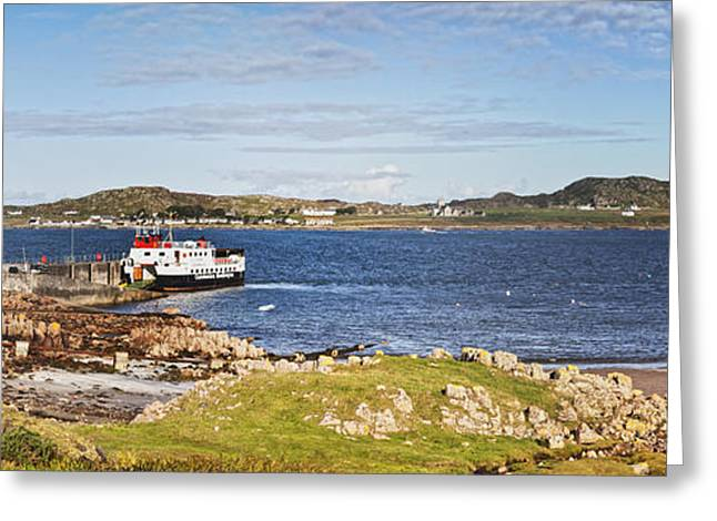 Panorama Of Fionnphort And Iona Scotland Greeting Card