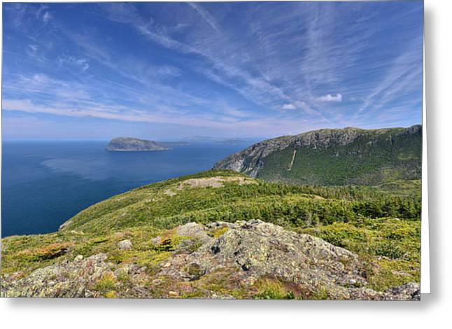 Panorama Of The Outer Bay Of Islands, Newfoundland Greeting Card
