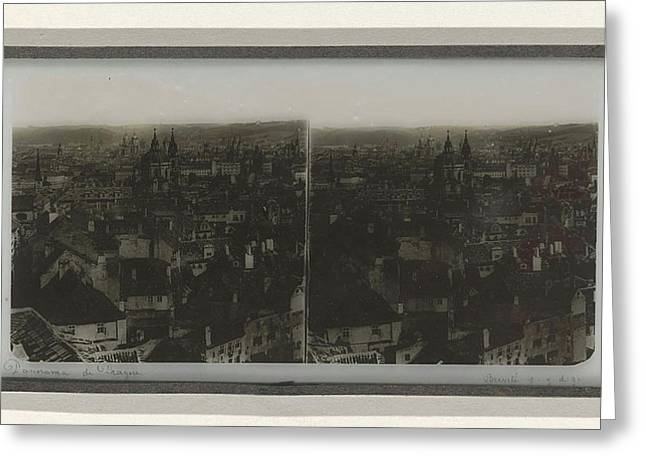 Panorama Of Prague, May Possibly Ferrier Pere Et Fils Greeting Card