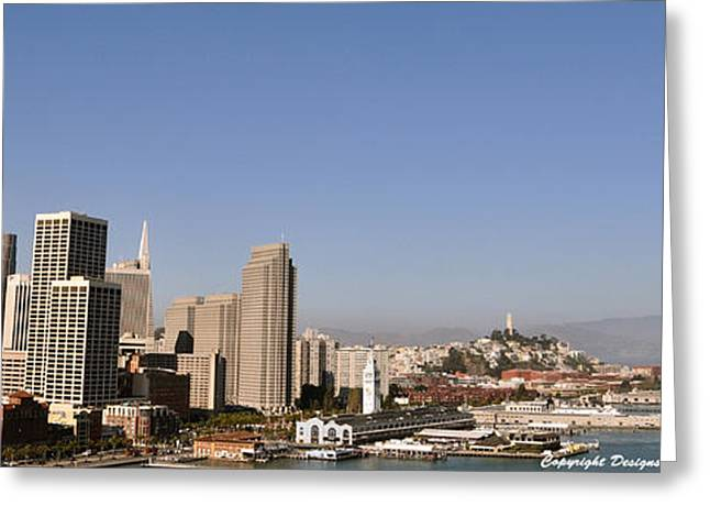 Greeting Card featuring the photograph Panorama Of San Francisco by Debby Pueschel