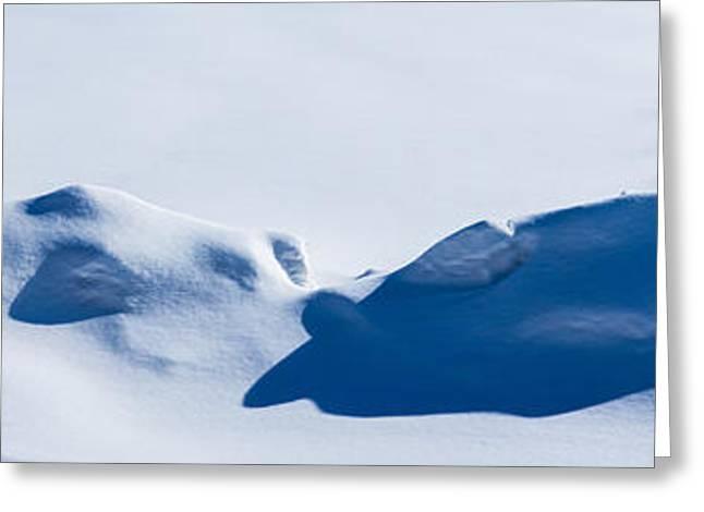 Panorama Of Snowdrifts Greeting Card