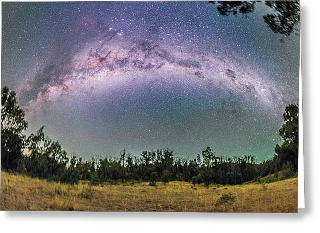 Panorama Of The Southern Milky Way Greeting Card by Alan Dyer