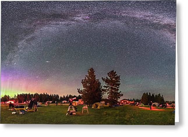 Panorama Of The Stars Over Cypress Hills Greeting Card