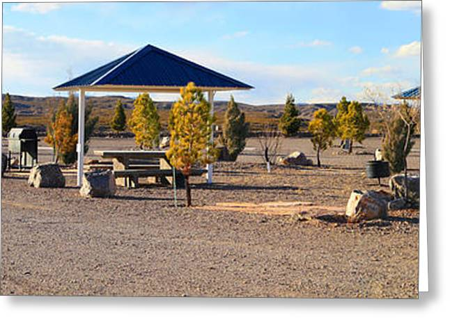 Panorama Outdoor Community Area Greeting Card by Roena King