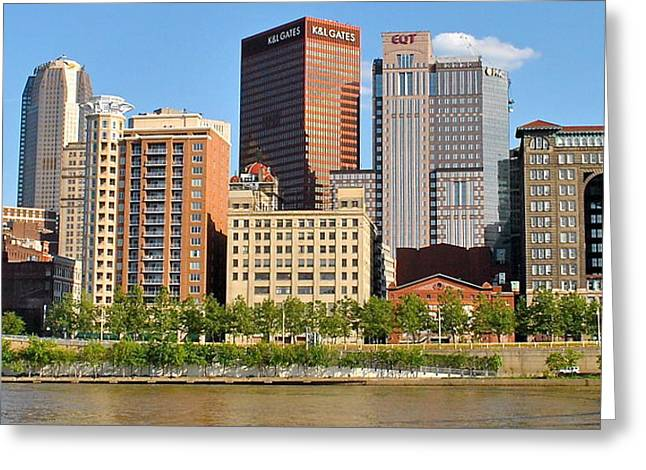 Panorama Over The Allegheny Greeting Card by Frozen in Time Fine Art Photography