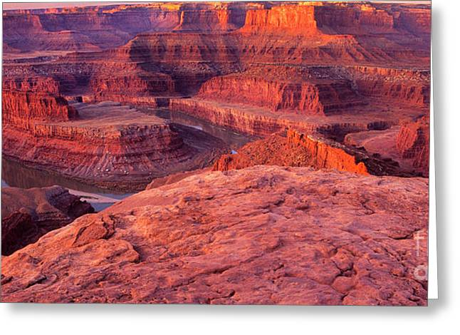 Greeting Card featuring the photograph Panorama Sunrise At Dead Horse Point Utah by Dave Welling