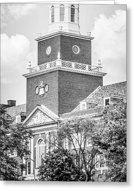 Panorama University Of Cincinnati Vertical Picture Greeting Card by Paul Velgos