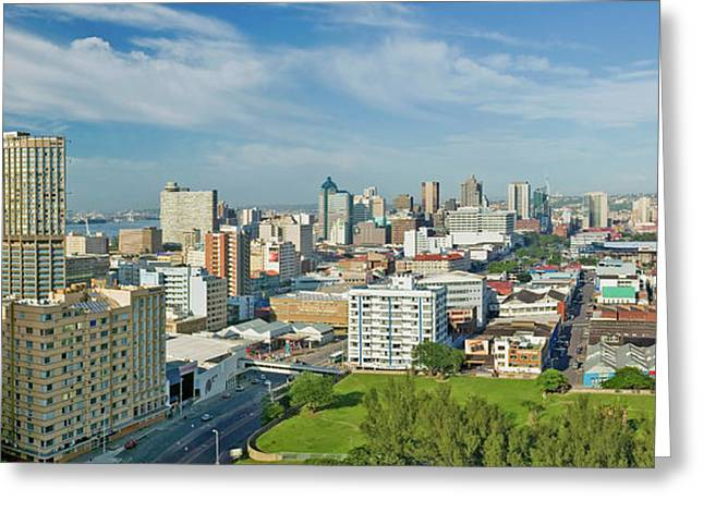 Panoramic Aerial View Of Durban, South Greeting Card