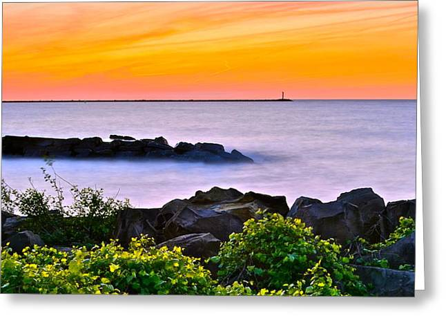 Marvelous View Greeting Cards - Panoramic Beauty Greeting Card by Frozen in Time Fine Art Photography