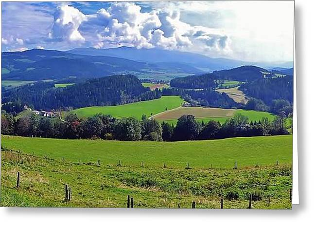 Panoramic Landscape Greeting Card by  Jose Carlos Fernandes De Andrade
