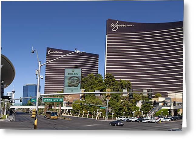 Panoramic Of Las Vegas Blvd Greeting Card