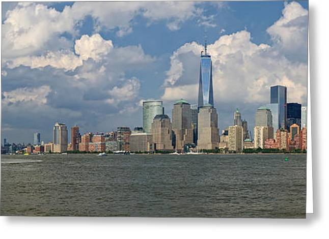 Panoramic Of New York City Greeting Card