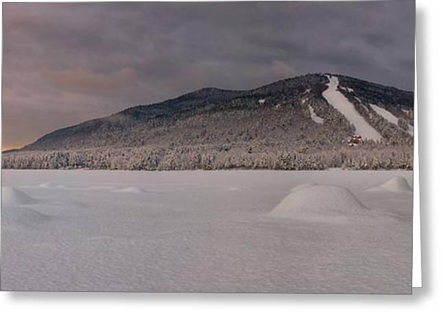 Panoramic Of Shawnee Peak And Moose Pond Greeting Card